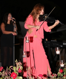 arabic violinist with band, international violinist in the arab world